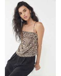 Urban Outfitters - Uo Debbie Leopard Print Square-neck Cami - Lyst
