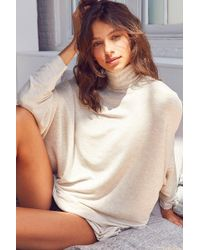 Out From Under - Norma Slouchy Turtleneck Tunic Top - Lyst