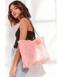 Skinnydip London - Pink Fluff Tote Bag - Lyst
