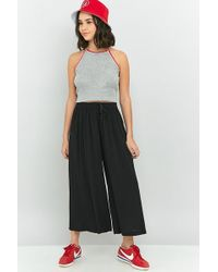 Staring At Stars - Tie-front Crinkle Culotte Pant - Lyst