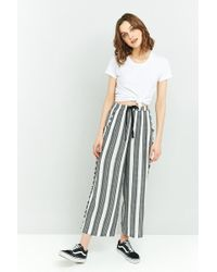 Staring At Stars - Striped Frayed Wide Leg Trousers - Lyst