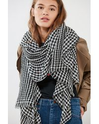 Urban Outfitters - Gingham Ruffled Scarf - Lyst