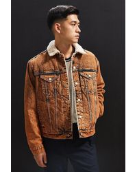 BDG - Sherpa Denim Trucker Jacket - Lyst