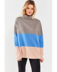 Out From Under - Colorblocked Turtleneck Tunic Top - Lyst