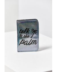 Skinnydip London - Palm Shimmer Passport Holder - Lyst