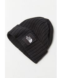 The North Face - Logo Boxed Cuffed Beanie - Lyst
