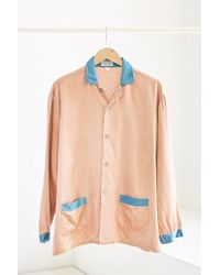 Urban Renewal - Vintage Peach + Turquoise Silky Pajama Top - Lyst