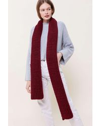 Urban Outfitters Chunky Ribbed Scarf - Red