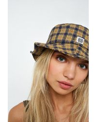 BDG - Blue And Orange Checked Bucket Hat - Lyst