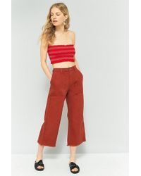 BDG - Rust Cropped Culottes - Lyst
