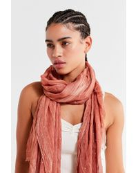 Urban Outfitters - Lightweight Foil-flecked Scarf - Lyst