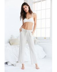 Urban Outfitters - Cosy Oatmeal Brown Lounge Bottoms - Lyst