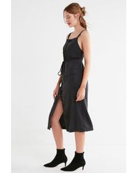 Urban Outfitters - Uo Addison Apron Button-down Midi Dress - Lyst