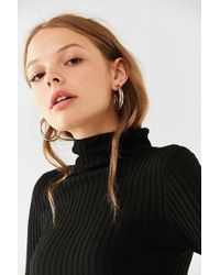 Urban Outfitters - Two-tone Doubled Hoop Earring - Lyst