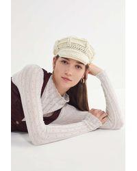 Lyst - Urban Outfitters Chenille Rib Beanie in White d6a4f363672e