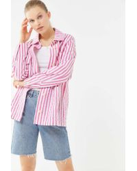 Urban Outfitters - Uo Sierra Striped Seersucker Chore Jacket - Lyst