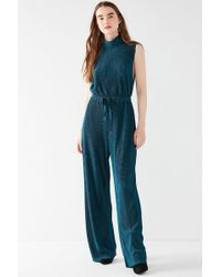 Urban Outfitters - Uo Eliza Pleated Mock-neck Jumpsuit - Lyst