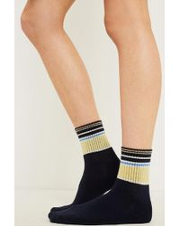 Out From Under - Banded Striped Crew Socks - Lyst