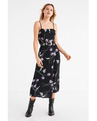 Urban Outfitters - Uo Straight-neck Floral Midi Dress - Lyst