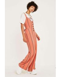 040549a41a90 Urban Outfitters - Uo Ashley Striped Button-through Tie-back Jumpsuit -  Womens Xs