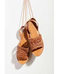 261158e798a80a Urban Outfitters - Luna Crochet Slingback Sandal - Lyst