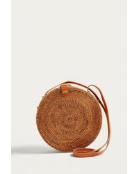 Urban Outfitters - Circle Straw Crossbody Bag - Lyst