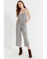 EVIDNT - Evidnt Shapeless Striped Jumpsuit - Lyst