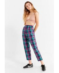 Urban Outfitters - Urban Renewal Remnants Color Pop Plaid Pant - Lyst