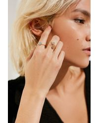 Urban Outfitters - Delicate Druzy Ring Set - Lyst