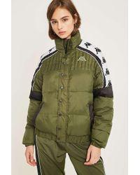 Kappa - Banda Khaki Puffer Jacket - Lyst