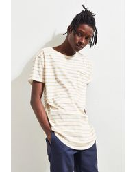 Urban Outfitters - Nautical Stripe Long Loose Scoopneck Tee - Lyst