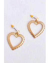 Urban Outfitters - Filigree Heart Drop Earrings - Lyst