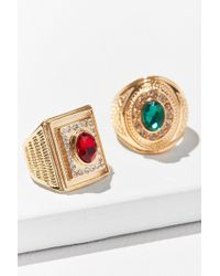 Urban Outfitters - Collegiate Ring Set - Lyst