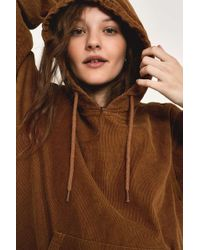 Dickies - Amonate Brown Corduroy Hoodie - Womens L - Lyst