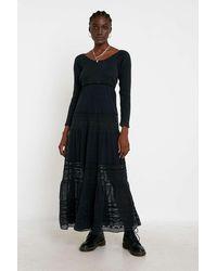 Free People Earth Angel Maxi Dress - Black