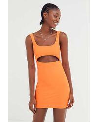Motel - Hulana Satin Cutout Bodycon Dress - Lyst