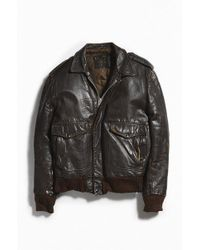 Urban Outfitters - Vintage Leather Bomber Jacket - Lyst
