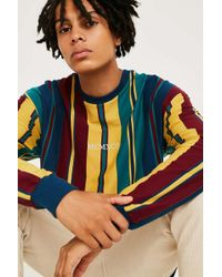 Urban Outfitters - Uo Multi-striped Numerals Long-sleeve T-shirt - Lyst
