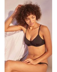 ff712d981fe5f5 Urban Outfitters Ladybug Sheer Mesh Triangle Bra - Womens L in Black ...