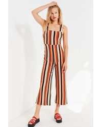 7bef46d86222 Urban Outfitters - Uo Delany Straight-neck Striped Jumpsuit - Lyst