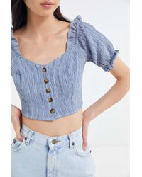 Urban Renewal - Remnants Ruffle Cropped Top - Lyst