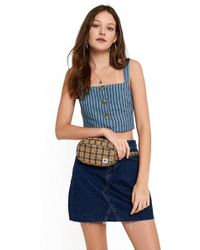 BDG - Rounded Check Bum Bag - Lyst