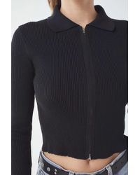 Urban Outfitters - Uo Toni Collared Zip-front Sweater - Lyst
