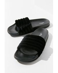 Urban Outfitters | Uo Quilted Velvet Pool Slide | Lyst