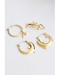 Cheap Monday - Mix & Match Dolphin Earrings Pack - Womens All - Lyst