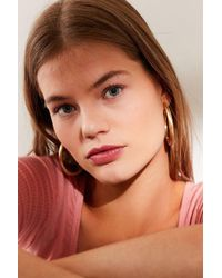 Urban Outfitters - Brushed Large Hollow Hoop Earring - Lyst