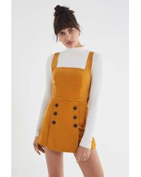 Urban Outfitters - Uo Daley Corduroy Skort Romper - Lyst
