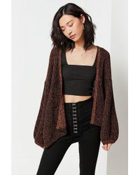 Urban Outfitters | Uo Darby Textured Knit Dolman Cardigan | Lyst