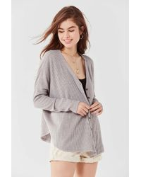 Out From Under - Jojo Oversized Thermal Button-front Top - Lyst