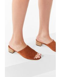 Urban Outfitters - Patti Burlap Heel Suede Mule - Lyst